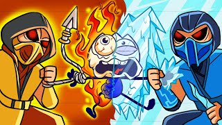 Max Can't Stand Sub-zero Ice Blast - Hot RED vd Cold BLUE Pencilanimation Short Animated Film