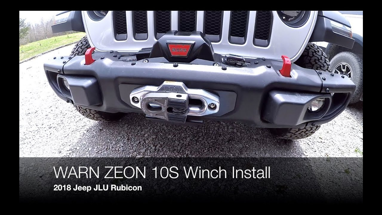 how to install a warn zeon 10s winch on a 2018 jeep jlu rubicon with the warn jl winch plate [ 1280 x 720 Pixel ]