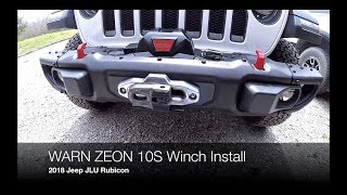 How to Install a WARN ZEON 10S Winch on a 2018 Jeep JLU Rubicon with the WARN JL Winch Plate