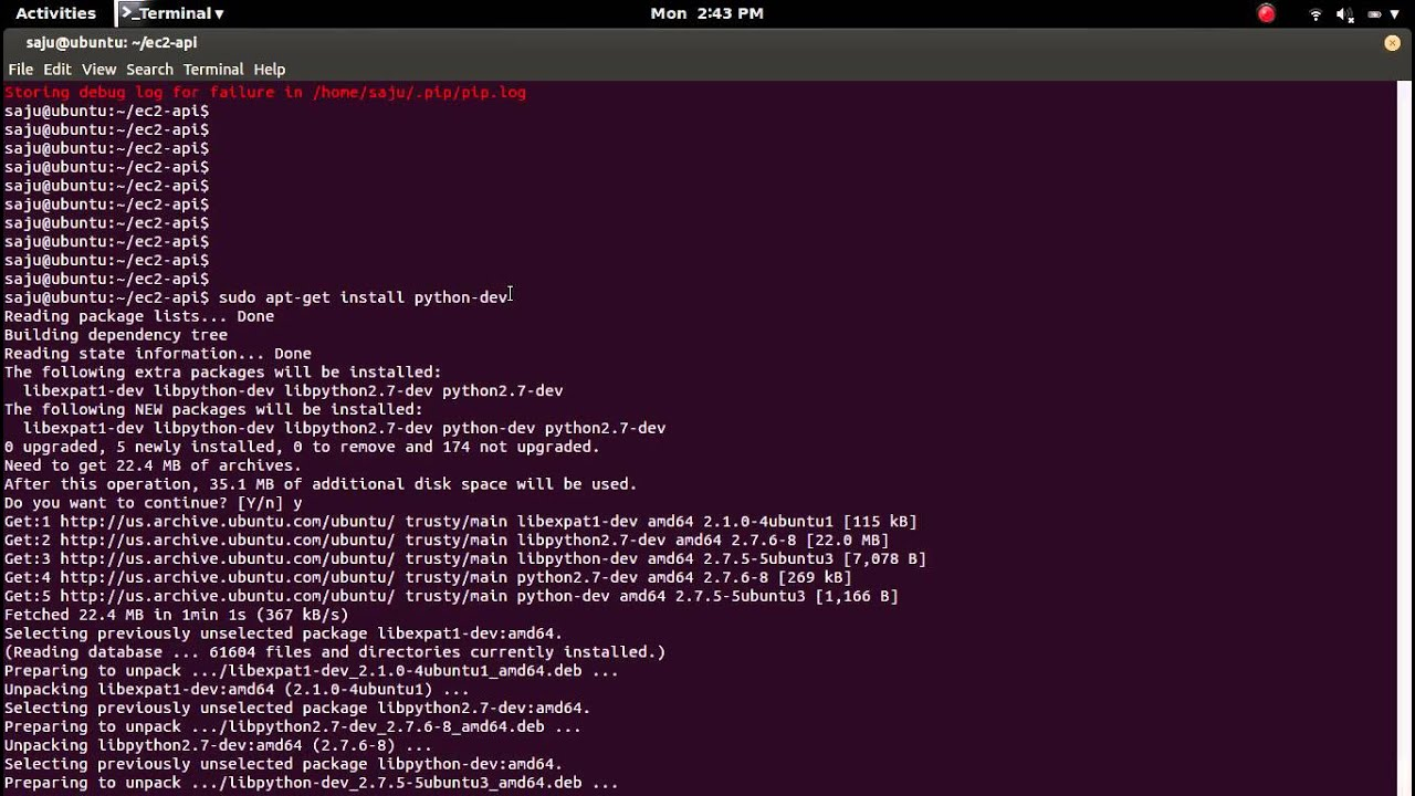 greenlet.h:8:20: fatal error: Python.h: No such file or directory