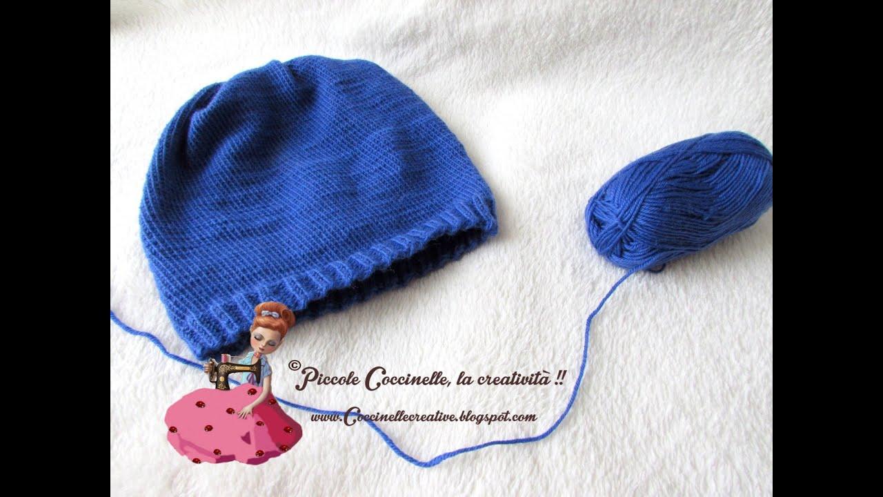 spesso Cappello a maglia blu realizzato a mano e in lana. - YouTube AY08