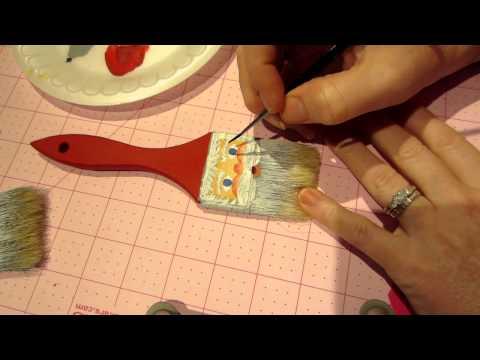 Painting Tutorial; Brush Santa Ornament