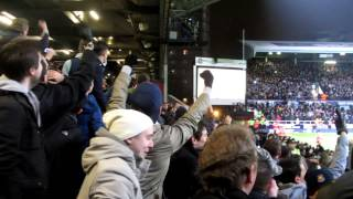 West Ham Crowd reaction to Andy Carroll's penalty against Spurs