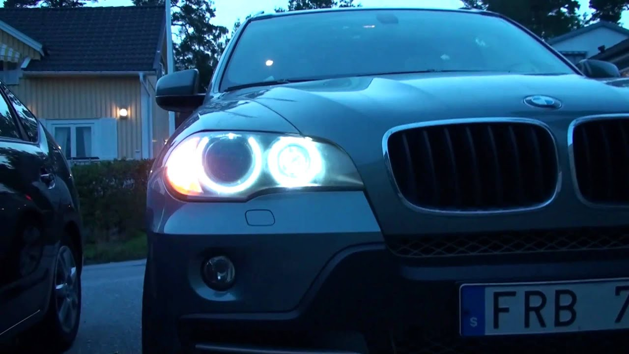 Bmw X5 Led Angel Eyes E70 Hd - Youtube-1439