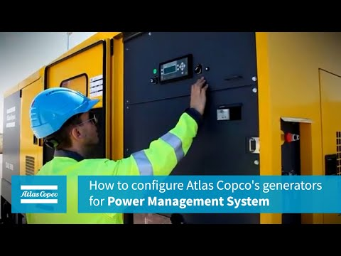 How to configure Atlas Copco's generators for Power Management System