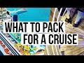 HOW TO PACK / WHAT TO PACK FOR A CARNIVAL CRUISE : PACKING TIPS + TRAVEL VLOG | SCCASTANEDA