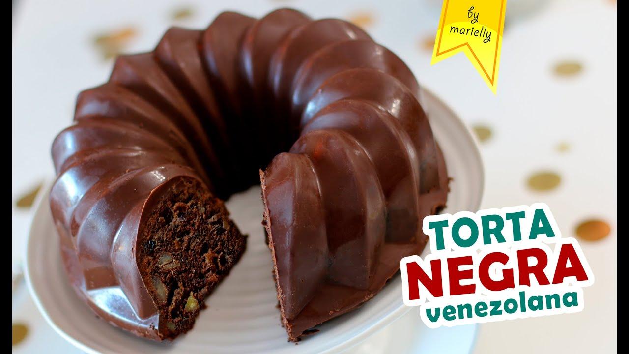 Torta Negra De Navidad Receta Venezolana Con Cubierta De Chocolate By Marielly Youtube