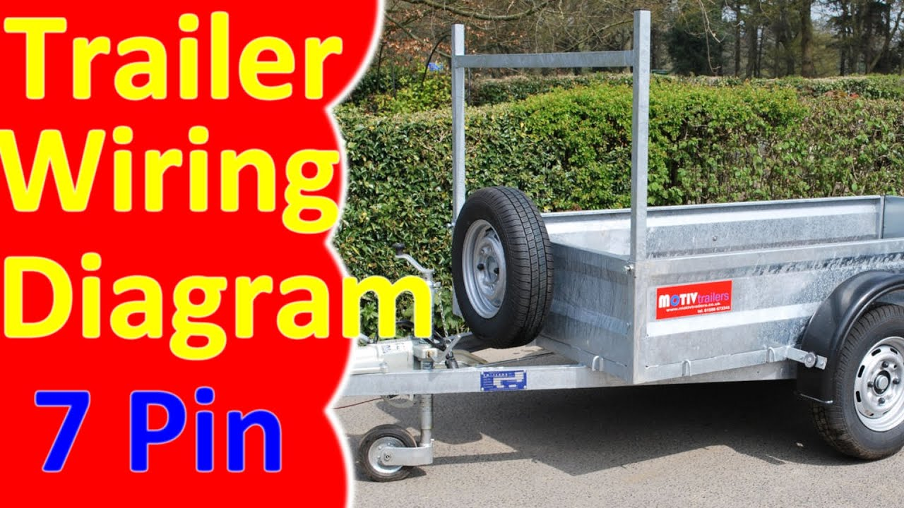 Pin Trailer Wiring Diagram Harness YouTube - Trailer light color diagram
