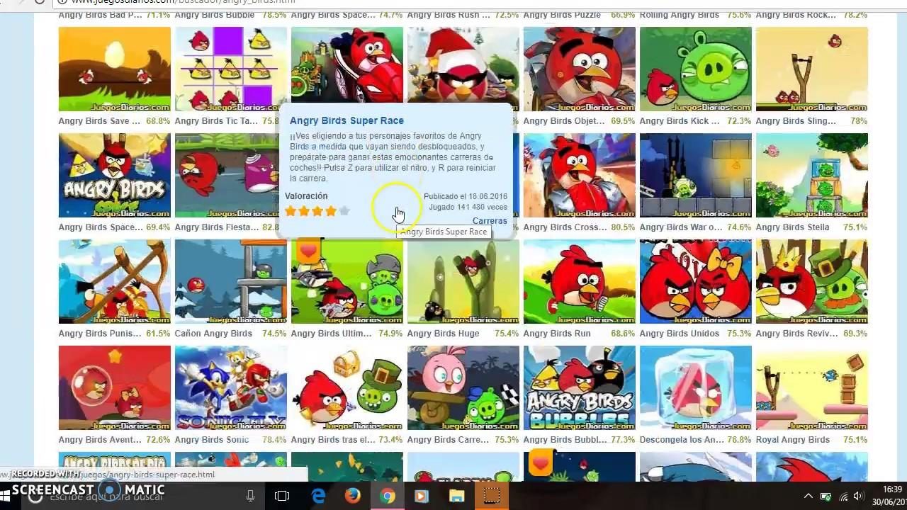 Juegos de Angry Birds  YouTube