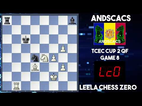 Andscacs Vs Leela Chess Zero | TCEC Cup 2| Quarter Final Game 8| Brilliance From Leela