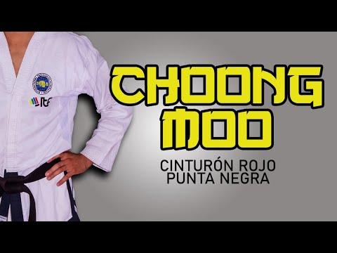 FORMA (TUL) CHOONG MOO - Cinto rojo punta negra. TaeKwon-Do ITF (ESC. ATRA SUR)
