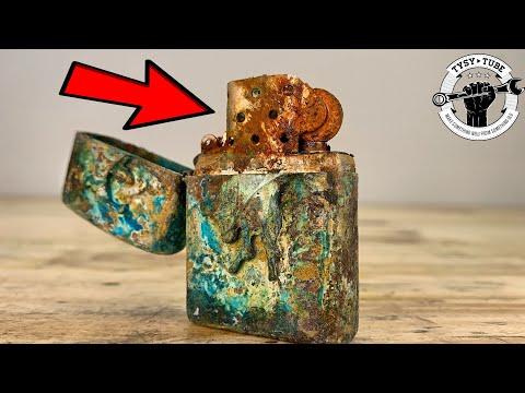 I Restored This Broken Zippo Lighter - Marlboro Edition And I Test It 🔥