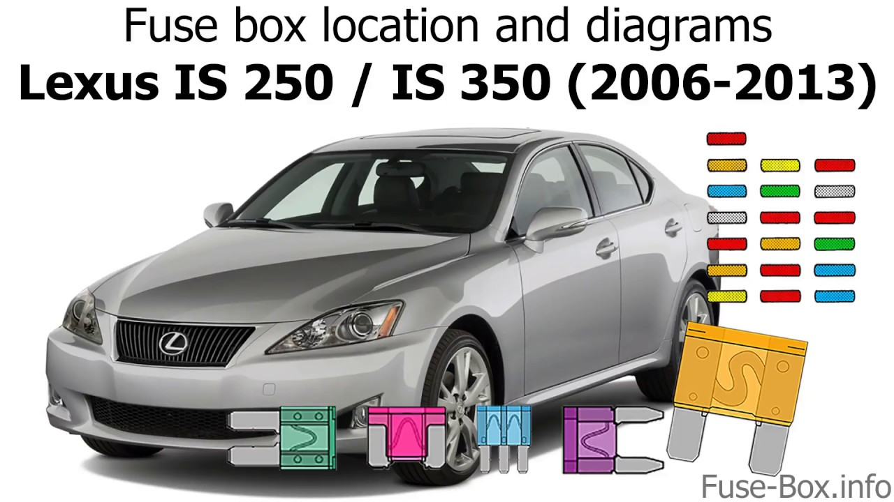 Fuse box location and diagrams: Lexus IS250  IS350 (2006