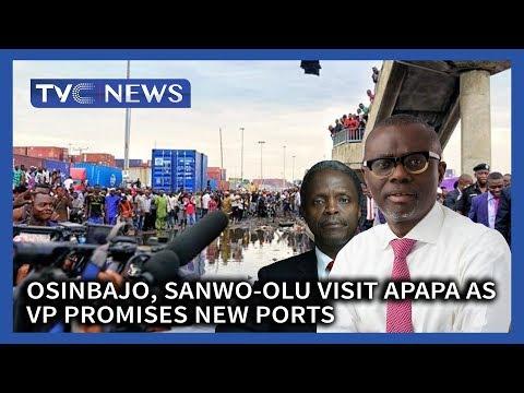 Osinbajo, Sanwo-Olu visit Apapa as VP promises new ports