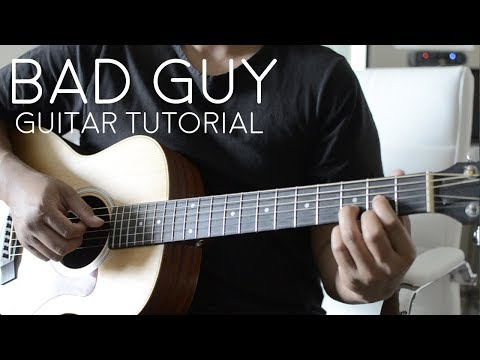 Bad Guy by Billie Eilish - Guitar Tutorial