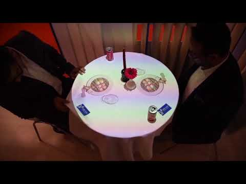 India's first digital mapping video for restaurant tables