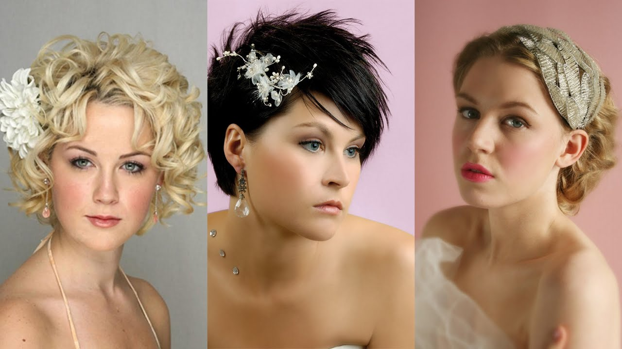 35 lovely wedding hairstyles for short hair - youtube