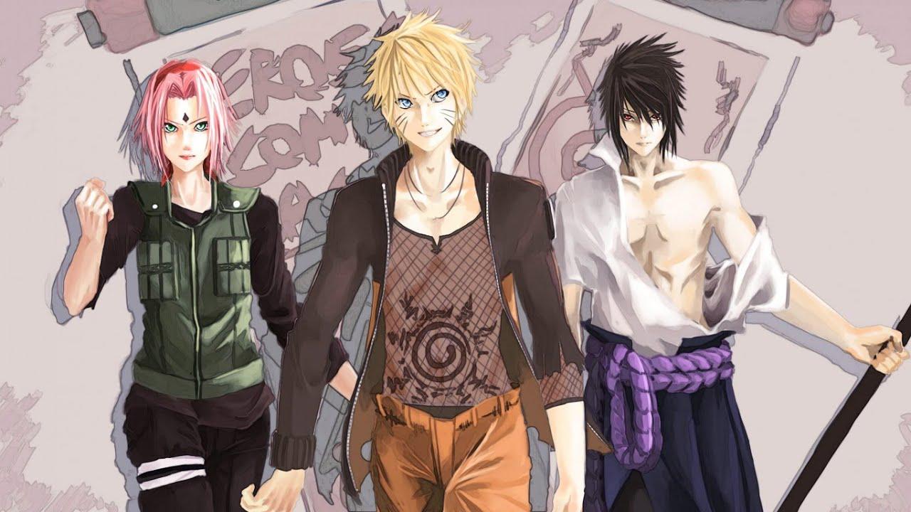 naruto sakura sasuke. 7 team story. - youtube