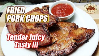 HOW TO COOK TASTY AND JUICY FRIED PORK CHOPS! 🐷