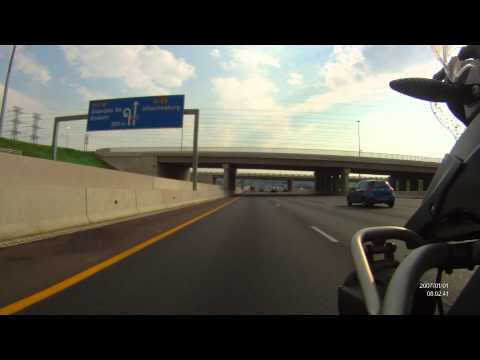 14 Minute Ride from Midrand to Rivonia (Johannesburg, South Africa)