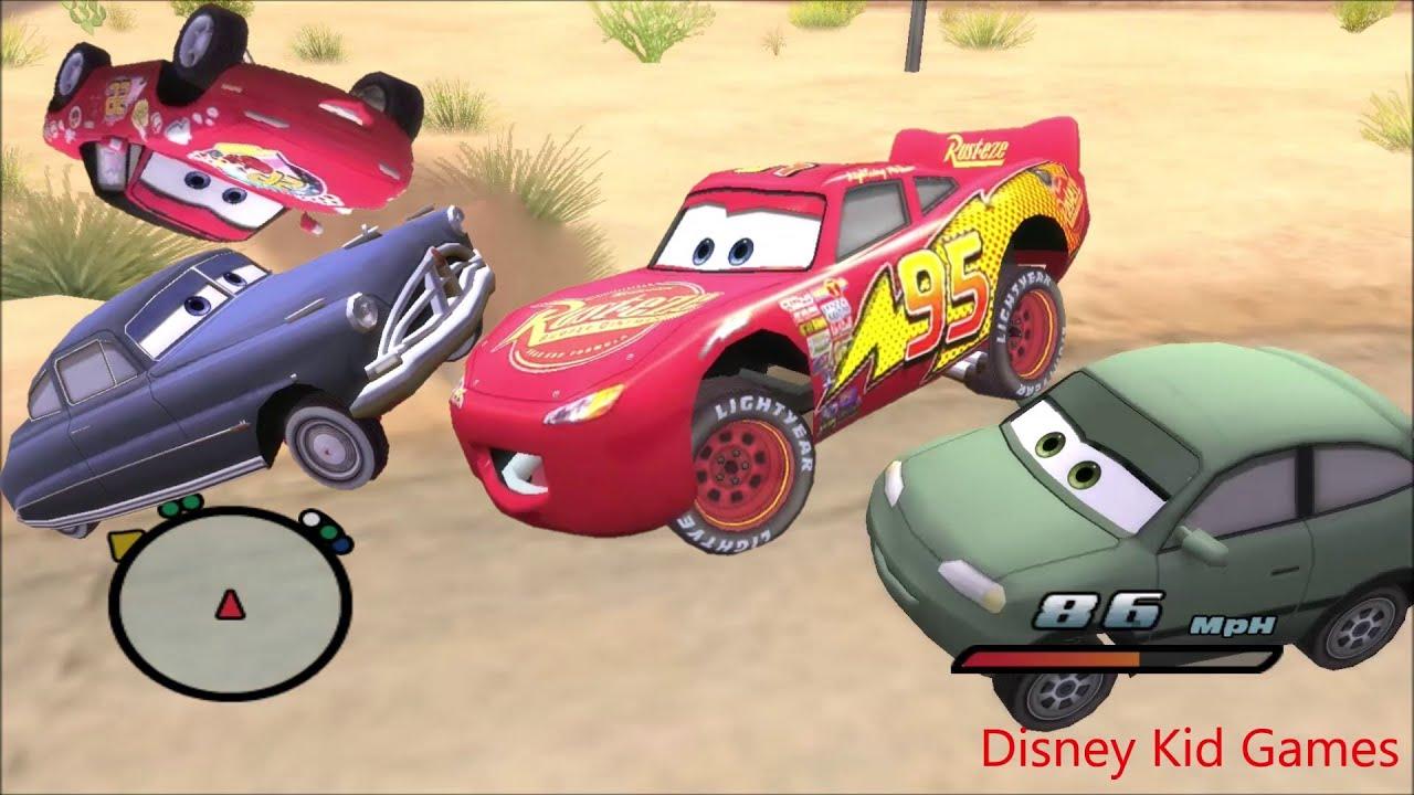 Disney Pixars Cars Movie Game - Crash Mcqueen 407 - Surfs up Lightning