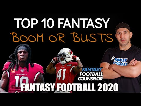 Top 10 Boom Or Bust Players For Fantasy Football 2020