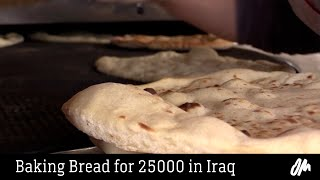 Baking bread for 25000 in Iraq