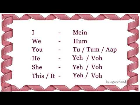Learn Hindi through English - Simple Words