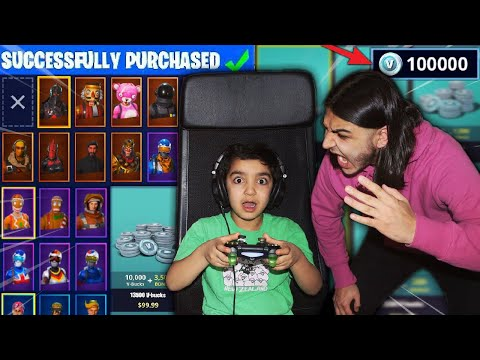 MY 5 YEAR OLD LITTLE BROTHER SPENDS $1000 ON FORTNITE WITH A STOLEN CREDIT CARD! [MUST WATCH]