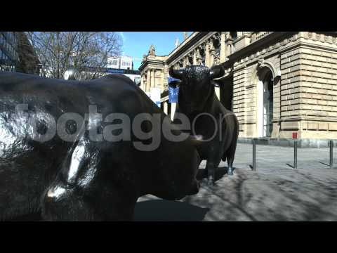 Bull & Bear Frankfurt Stock Exchange footage_000113_HD