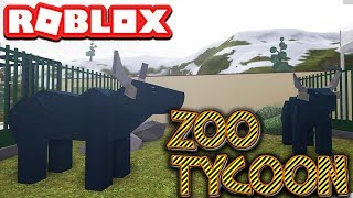 MY WATER BUFFALO ENCLOSURES IN ROBLOX ZOO TYCOON - Part #2