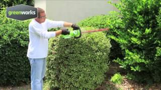 GreenWorks 24V Cordless Rotating Hedge Trimmer