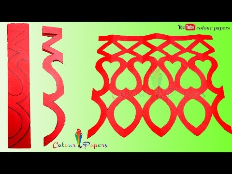 DIY How to make Easy paper cutting - Paper Cutting Craft Design  - by Colour Papers