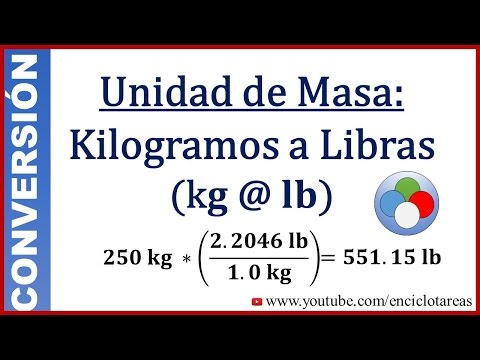 Como transformar kilos a libras