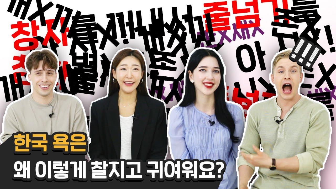 한국의 창의적인 욕을 들은 외국인의 반응!