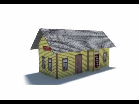 Model Railroads: Constructing Model Train Station Building B431