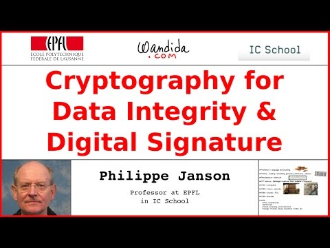 Cryptography for Data Integrity & Digital Signature | Philippe Janson