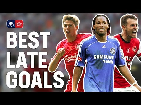 Best Last Minute Goals & Late Final Winners! | Gerrard, Drogba, Ramsey, Lingard | Emirates FA Cup
