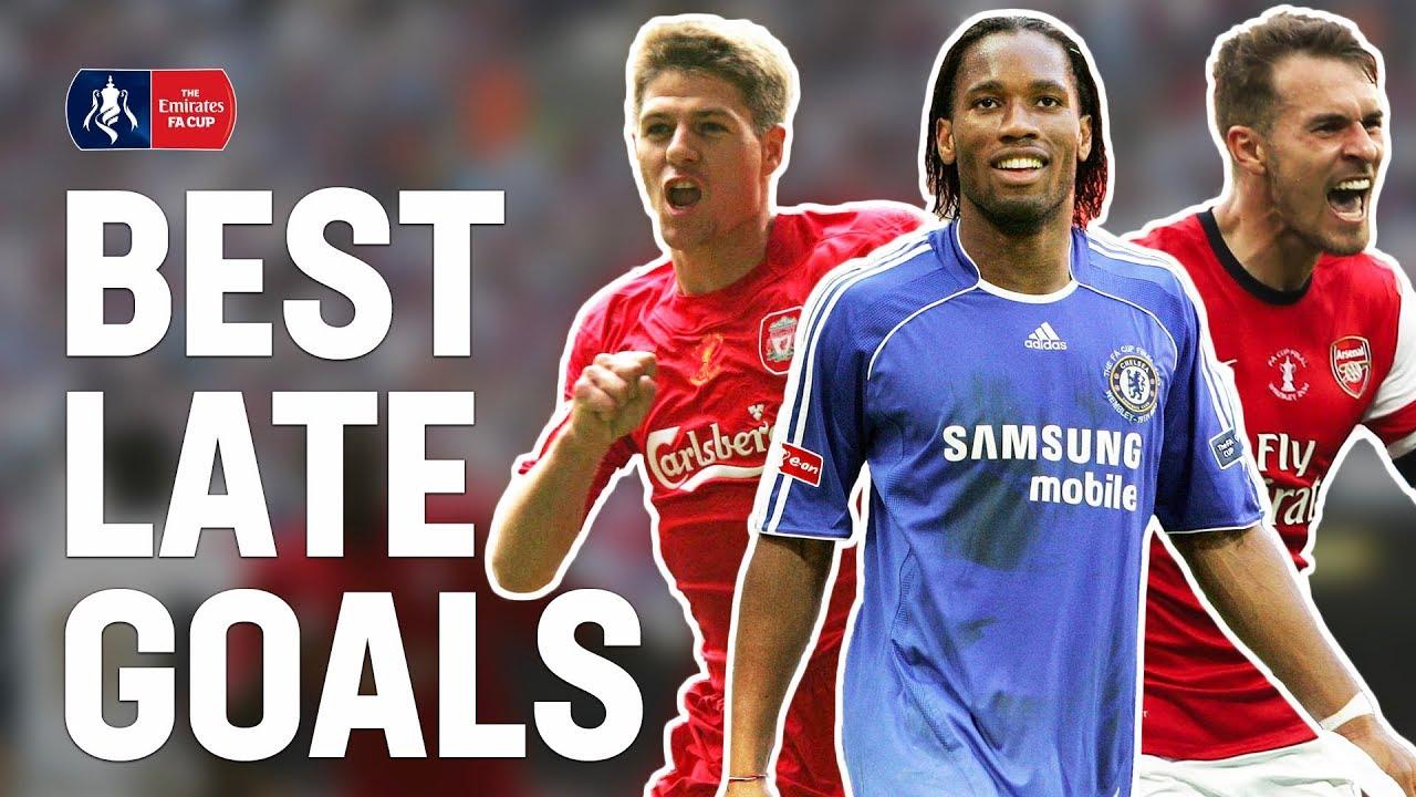 Best Last Minute Goals & Late Final Winners! | Gerrard, Drogba, Ramsey, Lingard | Emirates FA Cu