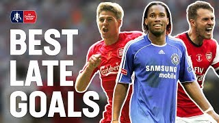 Best Last Minute Goals & Late Final Winners! | Gerrard, Drogba, Ramsey, Lingard | Emirates FA Cup