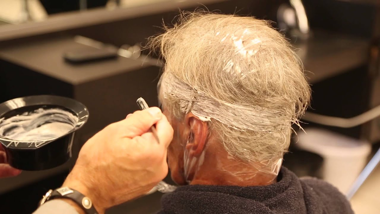 How to use lowlight hair coloring to cover gray hair