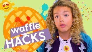 Waffle Iron Hacks: Rainbow Waffles, Waffle Cookies, DIY Necklace | GoldieBlox