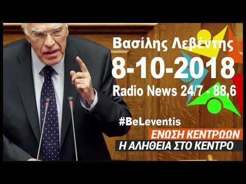 Β. Λεβέντης / News247 Radio / 8-10-2018