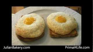 Coconut Nest Egg On Paleo Bread