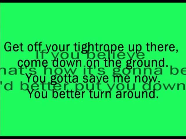 Elo Tightrope Lyrics Chords Chordify