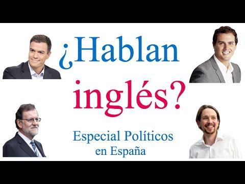 Analizando el inglés de los políticos en España (2018)