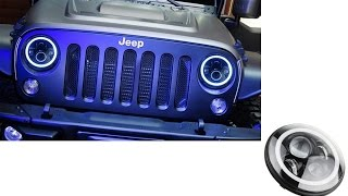 High Power 40W CREE 7 Round LED Headlights with Halo Rings For Jeep and more(http://store.ijdmtoy.com/Jeep-Wrangler-CJ-Round-LED-Headlights-p/70-203.htm., 2015-04-08T23:22:02.000Z)
