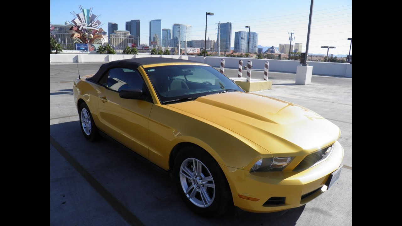 Ford Mustang Convertible Walkaround Las Vegas Youtube