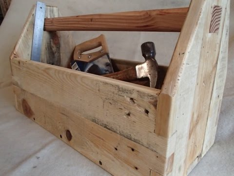 Completely new pallet wood toolbox - YouTube NC23