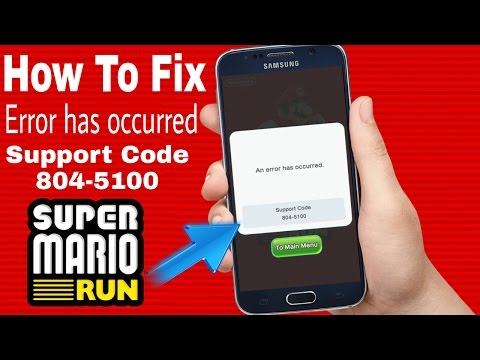 How to fix error has occurred on super mario run on android